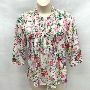 Damart floral 1/2 sleeve blouse